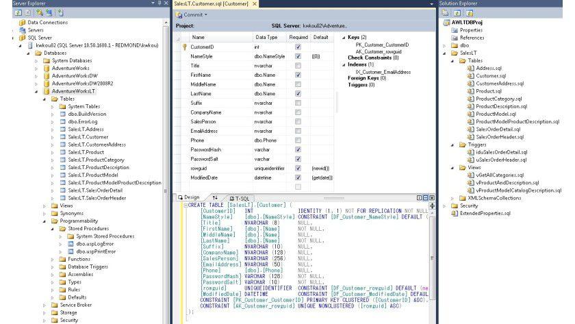 """Die SQL Server Developer Tools -Codename """"Juneau"""" - stellen integrierte Werkzeuge für IT-Experten bereit, die für Microsoft SQL Server entwickeln."""