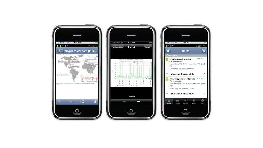 Netwerksteuerung: Mit der App iPRTG 3.0 lassen sich Netzwerke überwachen.