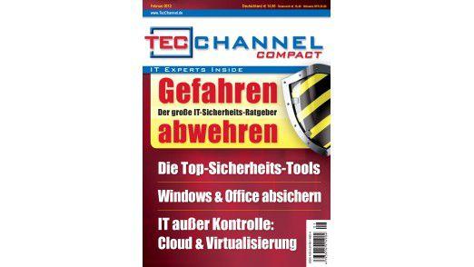 """Das TecChannel Compact 01/2012: Insgesamt 160 Seiten Praxisbeiträge und Grundlagen rund um das Thema """"IT-Sicherheit""""."""