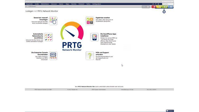 Details: Der PRTG Network Monitor hat Paessler auf Virtualisierung getrimmt.