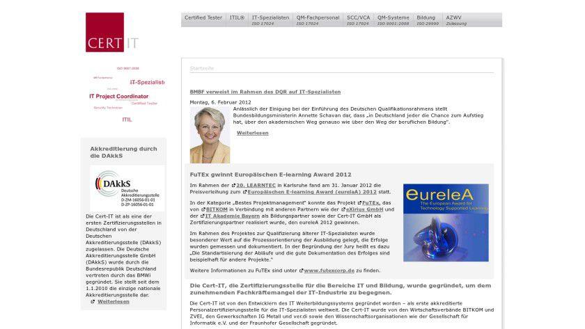 Details: Die Cert-IT gehört zu den ersten Zertifizierungsstellen in Deutschland.