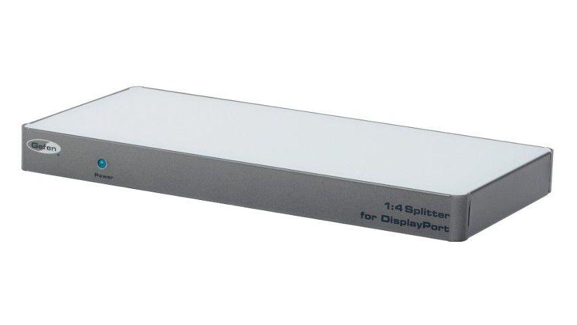 Aufteilung: Der Gefen EXT-DP-144 verteilt ein DisplayPort-Signal auf vier DisplayPort-Ausgänge.