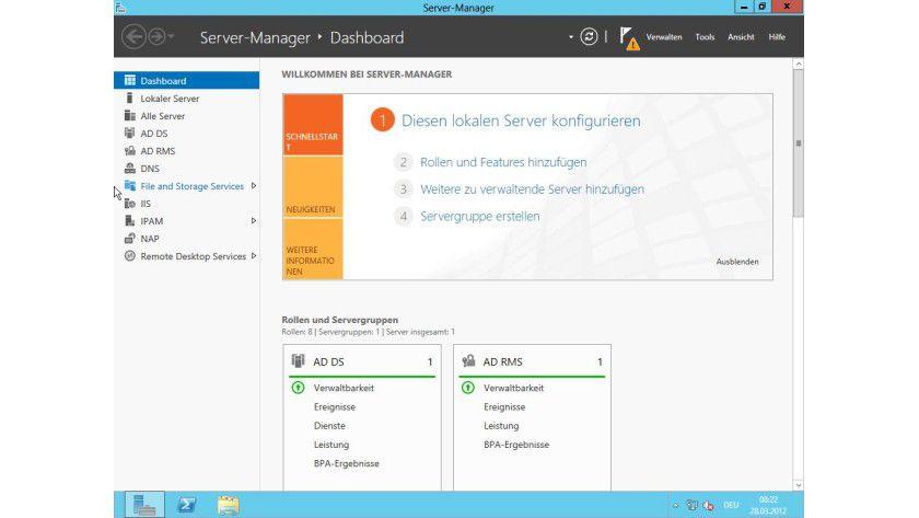 Server-Manager: Die Verwaltungszentrale sowohl optisch als auch in den Funktionen erneuert.