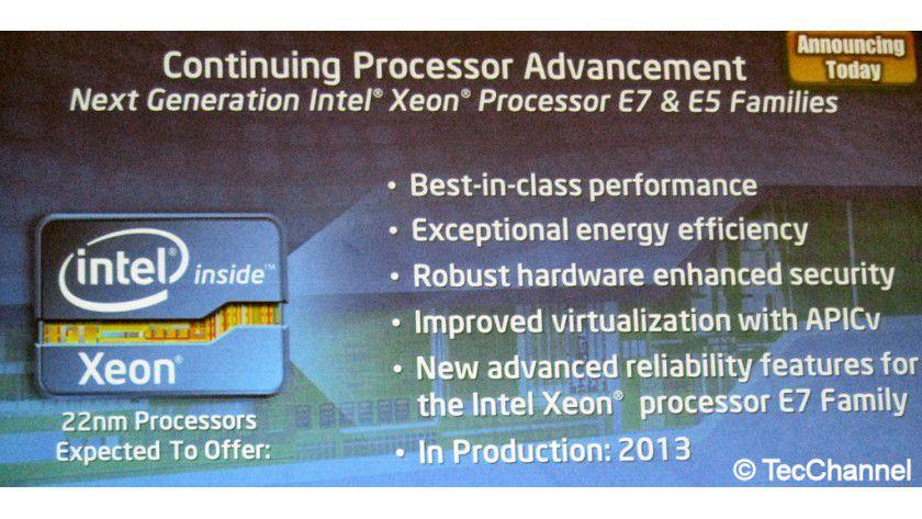 Nächste Generation: Im Jahr 2013 erhalten der Xeon E5 und Xeon E7 die Ivy-Bridge-Architektur.