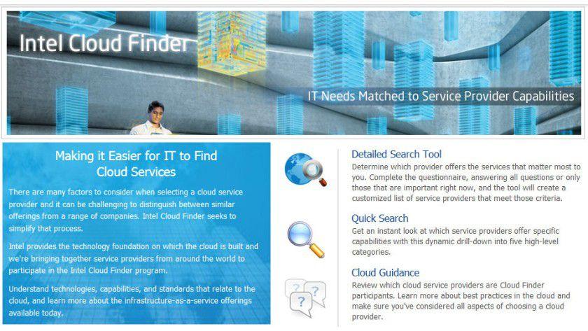 Intel Cloud Finder: Der Dienst soll Unternehmen helfen, den für ihre Anforderungen richtigen Cloud-Provider leichter zu finden.