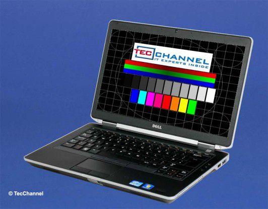 Dell Latitude 6430s: Das 14-Zoll-Display arbeitet mit einer Auflösung von 1366 x 768 Bildpunkten und einer LED-Hintergrundbeleuchtung.