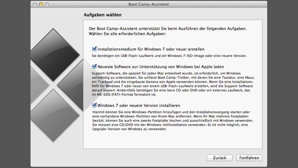 mac os x 10.7.5 bootcamp windows 7