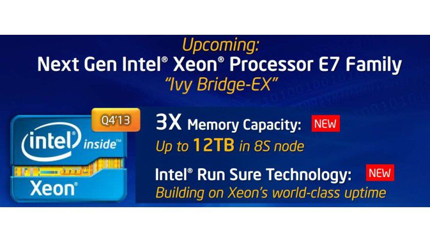 Xeon E7 v2 Ivy Bridge-EX: Die Prozessoren für Highend-Server nehmen in einer komplett neue Plattform mit dreifacher RAM-Kapazität Platz.