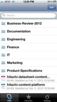Für iOS: HDS bietet eine Anywhere-App für das iPhone und iPad an. Damit kann auch über das Smartphone oder Tablet auf die Unternehmensdaten zugegriffen werden.