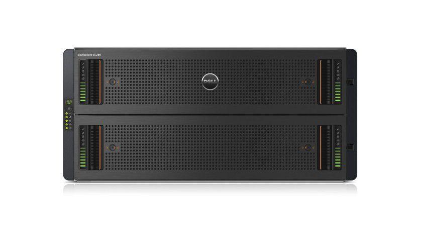 Compellent SC280: Auf 5 HE bringt Dell bis zu 336 TByte Kapazität unter.