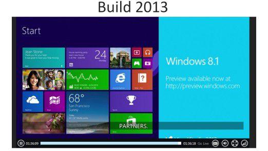 Vorabversion: Anlässlich der Entwickler-Messe Build hat Microsoft Windows 8.1 Preview zum Download freigegeben.
