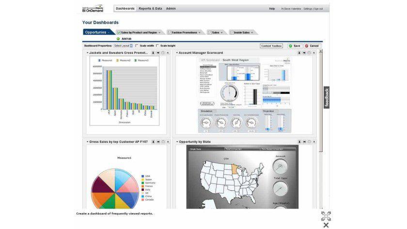 BI aus der Cloud: Software as a Service ermöglicht Datenanalysen und Reports bei Bedarf und ohne teure und komplexe Inhouse-Software.