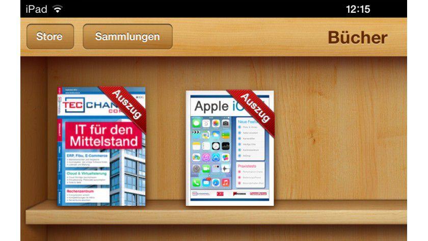 """Neu im iBookstore: """"IT für den Mittelstand"""" und """"Apple iOS 7 - Die neue Generation für iPhone und iPad""""."""