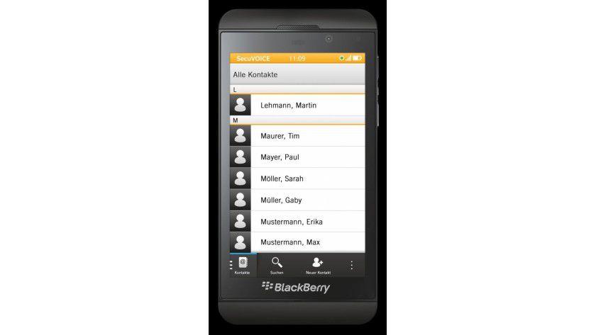 Sicheres Smartphone: Das aktuelle Gerät auf Basis des Blackberry Z10 mit der SecuSUITE.