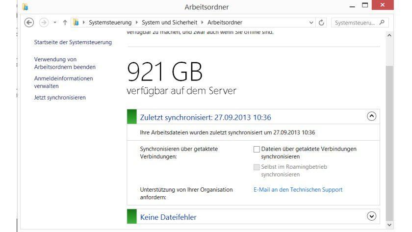 Work Folder: Mit Arbeitsordnern können Unternehmen Anwendern auch mobil Daten zur Verfügung stellen, die automatisiert auf den Server gespeichert werden.