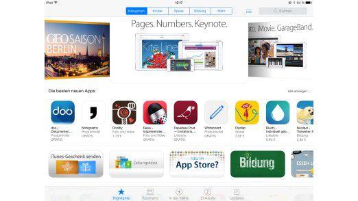 Der App Store: Apples Anlaufstelle für alle Downloads.