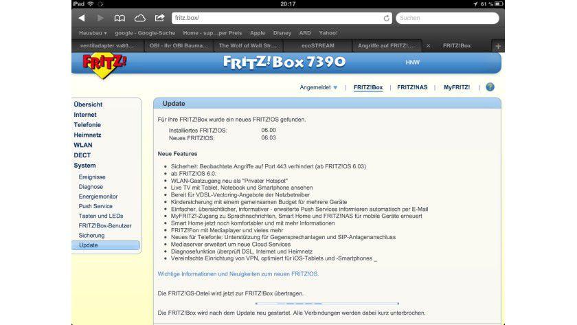 Mit dem aktuellen 6.0.3-Update schließt AVM die Sicherheitslücke in der Fritz!Box 7390.