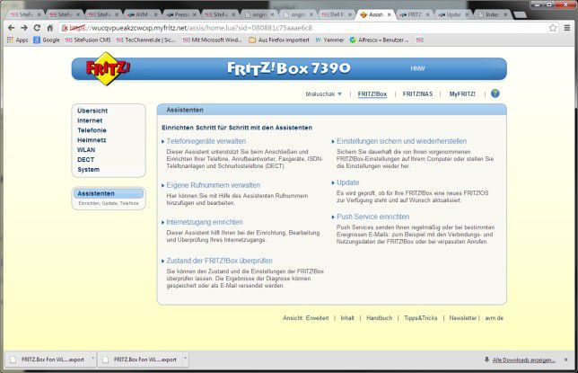 FritzBox: Ein Firmware-Update lässt sich einfach per Web-Interface und mittels eines Assistenten durchführen.