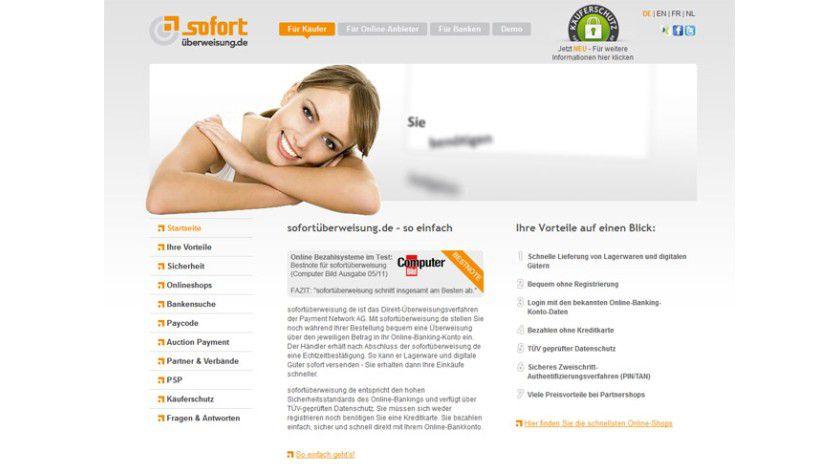 In der Kritik: Sofortüberweisung.de überprüft laut NDR Info mehr Kontodaten als notwendig.