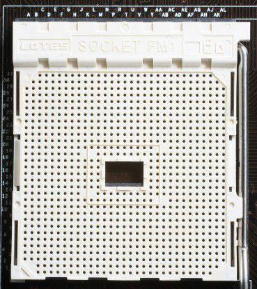 Sockel FM1 mit 905 Signalkontakten: Steckplatz für AMD-Prozessoren der A-Serie