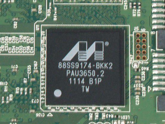 Marvell-Controller des Plextor PX-M2P 256GB