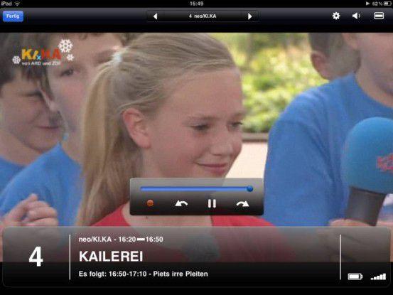 Elgato EyeTV Mobile TV-Tuner: Sie können jederzeit die Aufzeichnung starten, vor- und zurückspulen und die Sendung anhalten.