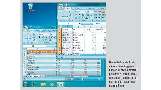 Jede Tabelle als neue Excel-Instanz öffnen.