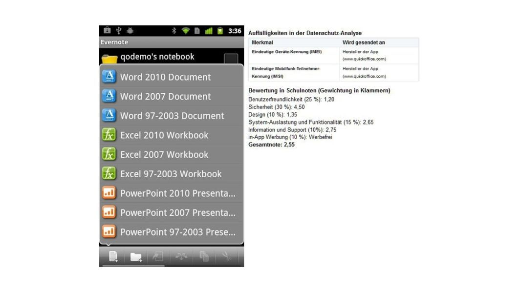 Quickoffice Pro (Office and PDF)