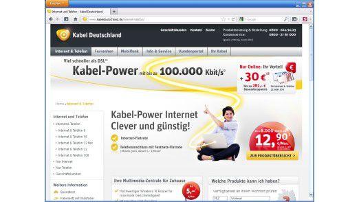 Die Anbieter von Kabel-Internet haben aufgerüstet: Bis zu 100 MBit/s bietet zum Beispiel Kabel Deutschland