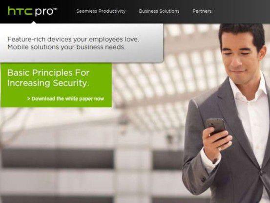 Nach Samsung und Motorola hat auch HTC sein Interesse an Business-Kunden (neu) entdeckt.