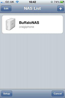 Buffalo: Fernzugriff per App gibt es sowohl fürs iPhone als auch für Android-Smartphones. Mit diesen Apps können Sie beispielsweise spontan eine Diashow mit Bildern vom letzten Urlaub zeigen.