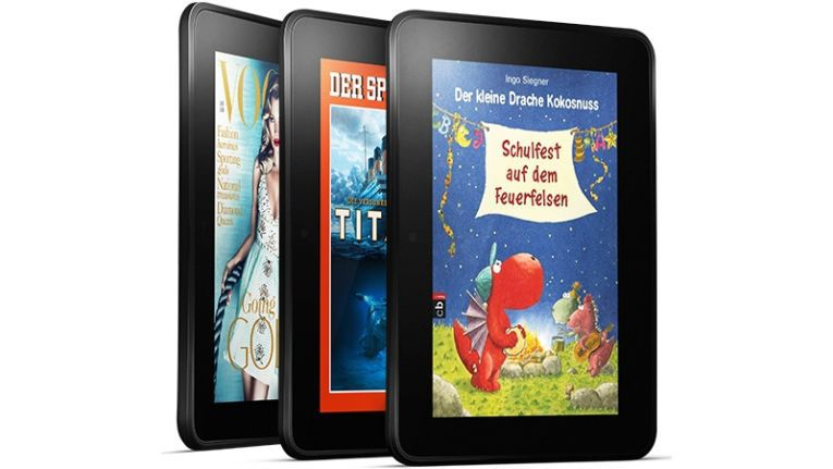 Amazon Kindle Fire HD: Der Der Bundesfinanzhof kann momentan nicht zweifelsfrei sagen, wie es mit Einfuhrzöllen für Lesegeräte für elektronische Bücher rechtlich aussieht.