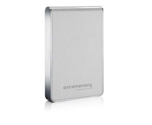 Die Extrememory Portable HDD designed by Brinell ist in unter anderem auch mit silberfarbenem Gehäuse erhältlich.