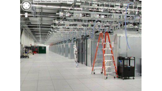 Ein Stormtrooper bewacht das Google-Rechenzentrum.