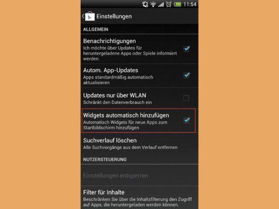 Apps landen nach dem Download irgendwo auf dem Startbildschirm, das können Sie verhindern.