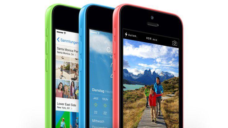 iPhone 5c: Ohne Wartezeit oder Löschung ist ein vierstelliger PIN in einer halben Stunde geknackt, ein sechstelliger Zahlencode in wenigen Stunden.