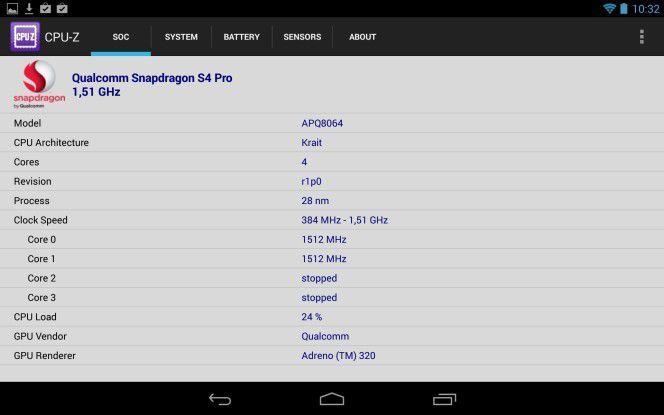 Snapdragon S4 Pro, Adreno 320 Grafik und 2,0 GByte RAM sorgen für hohes Tempo.