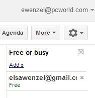 """Kollegen Ihrer """"Frei""""- oder """"Beschäftigt""""-Liste hinzufügen"""
