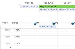 Zwei Zeitzonen im Kalender anzeigen lassen