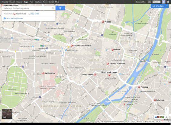 Google Maps bietet die Möglichkeit, auf Bewertungen von Freunden oder anderen Nutzern zuzugreifen.