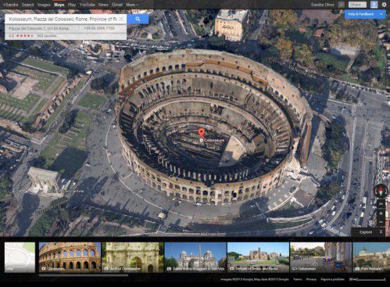 Teilweise wurden auch nur besondere Sehenswürdigkeiten mit dieser Ansicht ausgestatten, wie das Kolosseum in Rom.