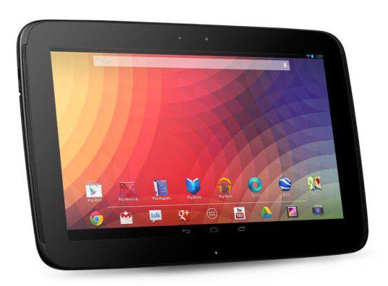 Google Nexus 10: flüssige Bedienung, hochauflösendes Display