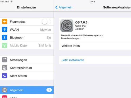 iOS 7.03 steht zum Download bereit.