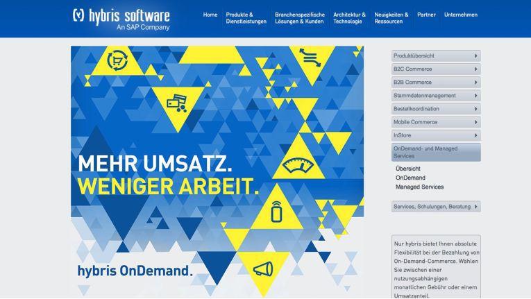 Mit Hybris OnDemand bietet die SAP-Tochter eine Cloud-basierende E-Commerce-Lösung der Enterprise-Klasse an.