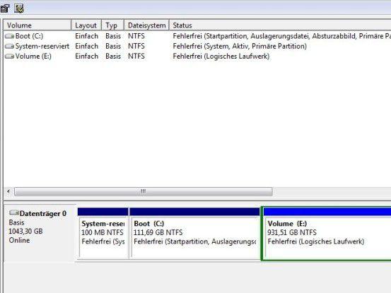 Windows-Datenträgerverwaltung