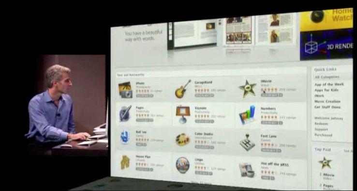 Echte Apps bald auf dem Rechner - der App Store für Mac OS X 10.7 Lion.