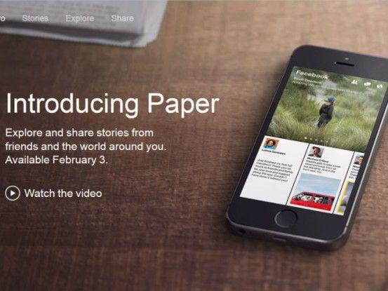 Paper - neue Facebook-App erscheint am 3. Februar