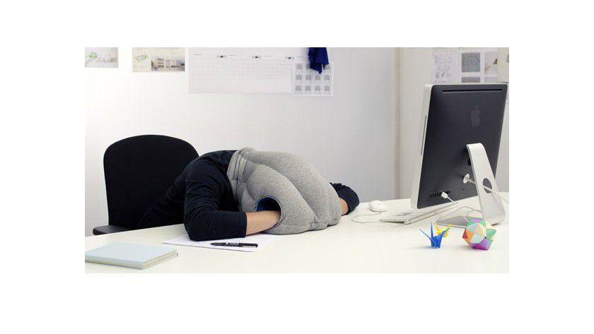 Solche Kissen sollen den - von Ärzten empfohlenen - Mittagschlaf im Büro erleichtern. Das Tool eignet sich zudem zur Abwehr nerviger Kollegen...