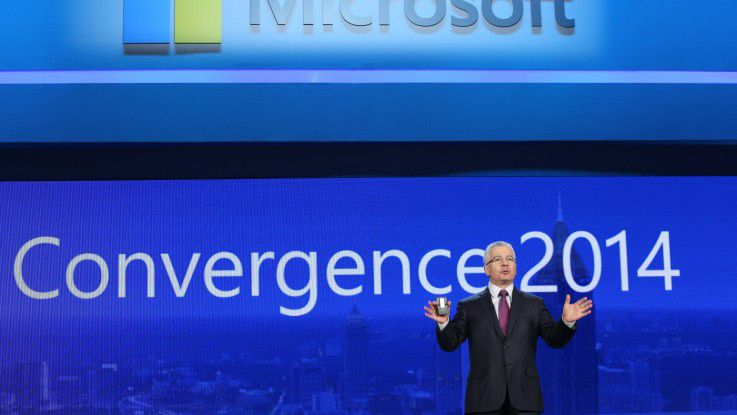 Kirill Tatarinov, Executive Vice President, Microsoft Business Solutions. eröffnet die Convergence 2014 in Atlanta