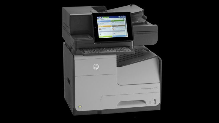 Mit dem Tintenstrahlmultifunktionsgerät Officejet Enterprise Color MFP X585 will Hewlett-Packard Laserdruckern Konkurrenz machen.
